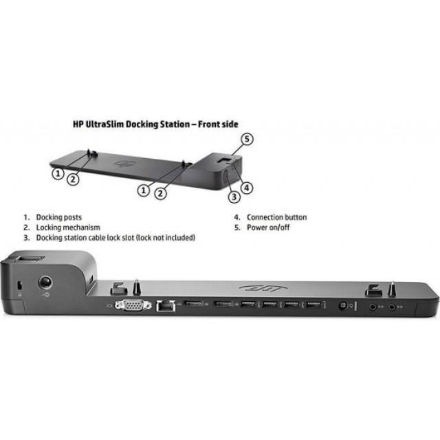 HP UltraSlim Dockingstation: HP Elitebook 840, 850, 9470m etc, D9Y32AA , D9Y19AV, D9Y32AA